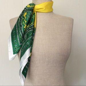 Yellow & Green Paisley Scarf